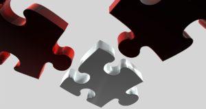 puzzelstukjes als onderdeel van zoeken naar een oplossing